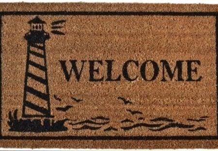 Imports-Dcor-Vinyl-Backed-Coir-Doormat-Guiding-Light-18-by-30-Inch-0-450x312 Beach Doormats and Coastal Doormats