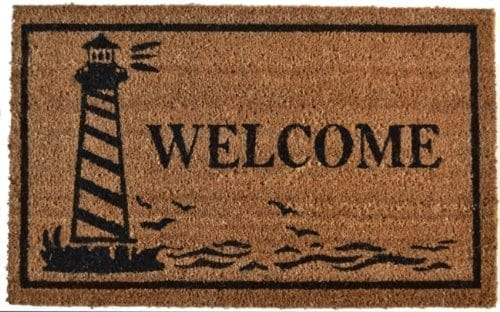Imports-Dcor-Vinyl-Backed-Coir-Doormat-Guiding-Light-18-by-30-Inch-0 Beach Doormats and Coastal Doormats