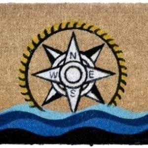 Imports Decor Printed Coir Doormat Compass 18 Inch By 30 Inch 0 300x300