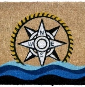 Imports Decor Printed Coir Doormat Compass 18 Inch By 30 Inch 0 300x305