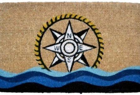 Imports-Decor-Printed-Coir-Doormat-Compass-18-Inch-by-30-Inch-0-450x305 Beach Doormats and Coastal Doormats