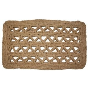 J M Home Fashions Chain Rectangle Woven Coco Doormat 18 Inch By 30 Inch 0 300x300