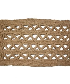 J M Home Fashions Chain Rectangle Woven Coco Doormat 18 Inch By 30 Inch 0 300x360