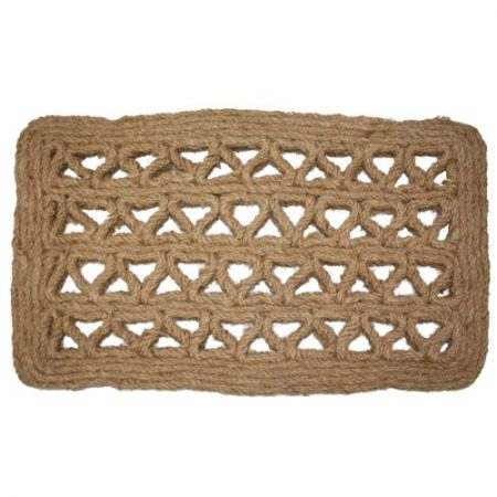 J-M-Home-Fashions-Chain-Rectangle-Woven-Coco-Doormat-18-Inch-by-30-Inch-0-450x450 Beach Doormats and Coastal Doormats