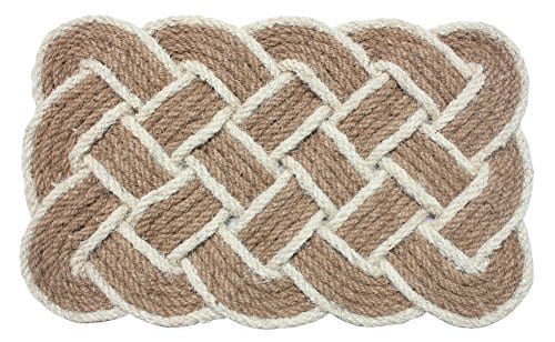 J-M-Home-Fashions-Oval-Knot-Woven-Coco-Doormat-22-Inch-by-36-Inch-0 Beach Doormats and Coastal Doormats