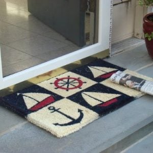 Kempf Nautical Design Rubber Backed Coco Doormat 18 By 30 By 05 Inch 0 300x300