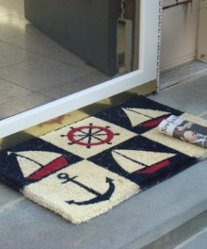 Kempf Nautical Design Rubber Backed Coco Doormat 18 By 30 By 05 Inch 0 300x360
