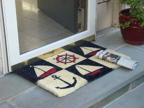 Kempf Nautical Design Rubber Backed Coco Doormat 18 By 30 By 05 Inch 0