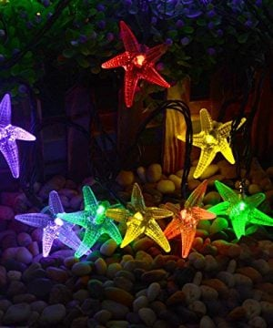 LUCKLED Original Starfish Solar String Lights 20ft 30 LED Fairy Christmas Lights Decorative Lighting For IndoorOutdoor Garden Home Patio Lawn Party And Holiday DecorationsMulti Color 0 0 300x360
