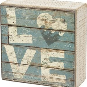 Love Aqua Marine Mini Beach Plankboard Print Sign With Heart 4 In 0 300x300