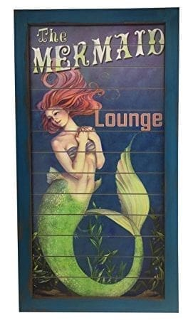 Mermaid-Lounge-Wood-Wall-Sign-255-x-135-Tiki-Bar-0-271x450 100+ Mermaid Home Decor Ideas