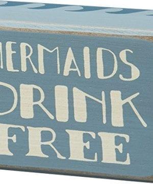 Mermaids Drink Free Vintage Coastal Mini Wood Box Sign 4 In X 3 In 0 300x360