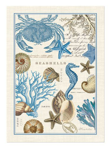 Michel Design Works Seashore Kitchen Towel 0