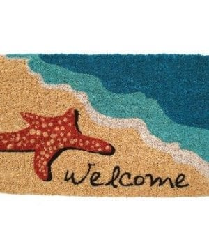 Mid Thickness Coir Starfish Welcome Outdoor Rectangular Doormat 0 300x360