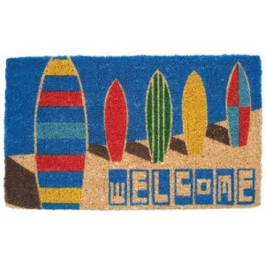 Mid Thickness Coir Surf Boards Outdoor Rectangular Doormat 0 300x300