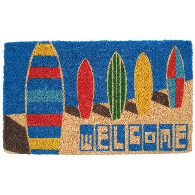 Mid Thickness Coir Surf Boards Outdoor Rectangular Doormat 0