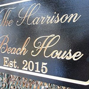 Personalized Beach House Sign Custom Carved Wood Sign Beach Umbrella 0 1 300x300