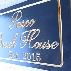 Personalized Beach House Sign Custom Carved Wood Sign Beach Umbrella 0 4 300x300