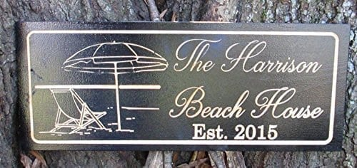 Personalized-Beach-House-Sign-Custom-Carved-Wood-Sign-Beach-Umbrella-0 The Best Wooden Beach Signs You Can Buy