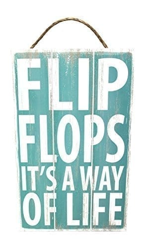 Poorboy-Woodworks-Sign-Coastal-Slats-Flip-Flops-Its-A-Way-Of-Life-0 The Best Wooden Beach Signs You Can Buy