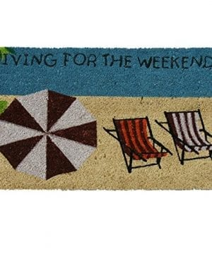 Rubber Cal Living For The Weekend Beach Doormat 18 By 30 Inch 0 300x360