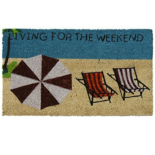 Rubber Cal Living For The Weekend Beach Doormat 18 By 30 Inch 0