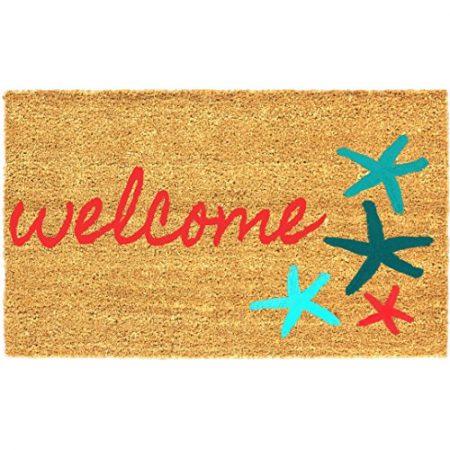 Sand-and-Starfish-18-x-30-Inches-Coco-Coir-Doormat-Beach-Welcome-Mat-0-450x450 Beach Doormats and Coastal Doormats