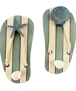Set Of 2 Wood Sandal Wall Hooks New 0 300x360