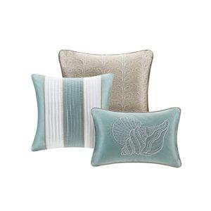 Soft Blue Seashells Starfish Beach House Island CAL King Comforter Set 7 Piece Bed In A Bag HOMEMADE WAX MELT 0 0 300x300