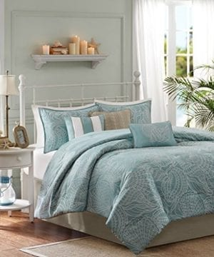 Soft-Blue-Seashells-Starfish-Beach-House-Island-CAL-King-Comforter-Set-7-Piece-Bed-In-A-Bag-HOMEMADE-WAX-MELT-0-300x360 200+ Coastal Bedding Sets and Beach Bedding Sets