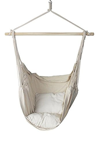 Suesport Hanging Rope Hammock Chair Porch Swing