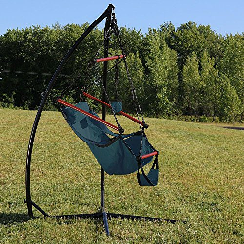 Sunnydaze Durable X Stand And Hanging Hammock Chair Set Or X Chair Stand ONLY You Choose 0 0