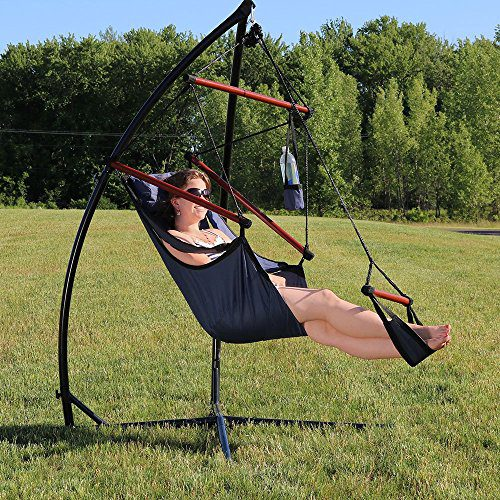 Sunnydaze Durable X Stand And Hanging Hammock Chair Set Or X Chair Stand ONLY You Choose 0 7
