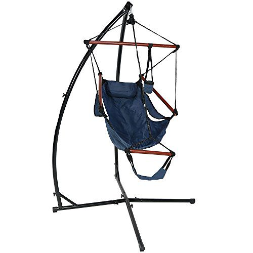 Sunnydaze Durable X Stand And Hanging Hammock Chair Set Or X Chair Stand ONLY You Choose 0