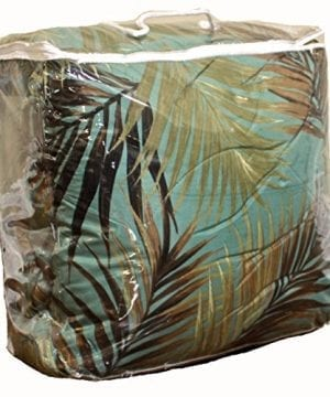 TROPICAL PALM TREE LEAFLEAVES OCEAN BEACH Coastal Bedding 8 Pieces Comforter Set Bed In A Bag 0 0 300x360