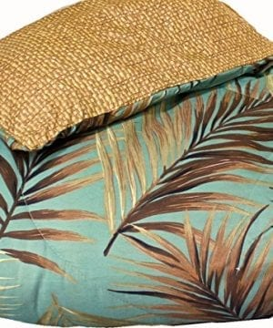 TROPICAL PALM TREE LEAFLEAVES OCEAN BEACH Coastal Bedding 8 Pieces Comforter Set Bed In A Bag 0 2 300x360