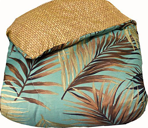 TROPICAL PALM TREE LEAFLEAVES OCEAN BEACH Coastal Bedding 8 Pieces Comforter Set Bed In A Bag 0 2