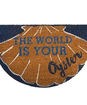 The World Is Your Oyster Coir Doormat 0 300x360