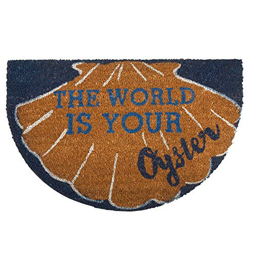 The World Is Your Oyster Coir Doormat 0