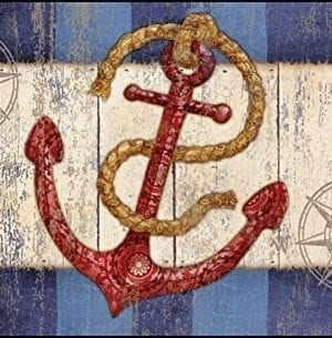 Toland-Home-Garden-18-by-30-Rustic-Anchor-Compass-Indoor-Outdoor-Mat-Standard-0-300x305 100+ Nautical Anchor Decorations and Decor