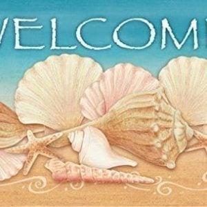 Toland Home Garden Welcome Shells IndoorOutdoor Standard Mat 18 X 30 0 300x300