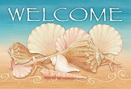 Toland-Home-Garden-Welcome-Shells-IndoorOutdoor-Standard-Mat-18-x-30-0-450x305 Beach Doormats and Coastal Doormats