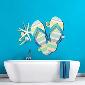 Tropical-Retreat-Relax-Beach-Flip-Flops-Wall-Decal-0-300x300 Flip Flop Decorations