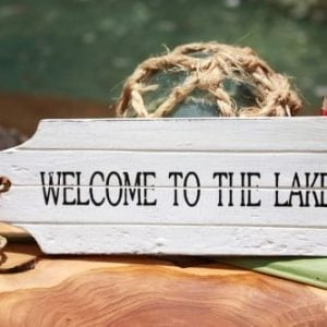 Welcome To The Lake Door Tag Wood Sign 8 Rustic Coastal 0 300x300