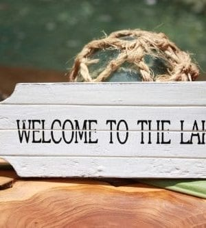 Welcome-To-The-Lake-Door-Tag-Wood-Sign-8-Rustic-Coastal-0-300x333 100+ Wooden Beach Signs & Wooden Coastal Signs