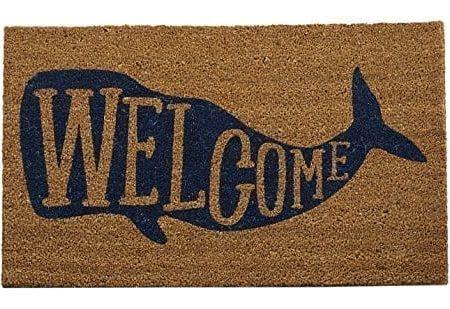Welcome-Whale-Doormat-0-450x309 Beach Doormats and Coastal Doormats