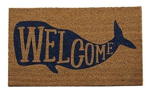 Welcome-Whale-Doormat-0 Beach Doormats and Coastal Doormats