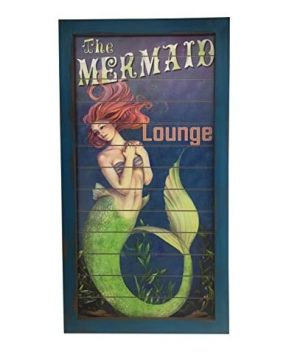 mermaid-lounge-wooden-sign-300x360 Mermaid Home Decor