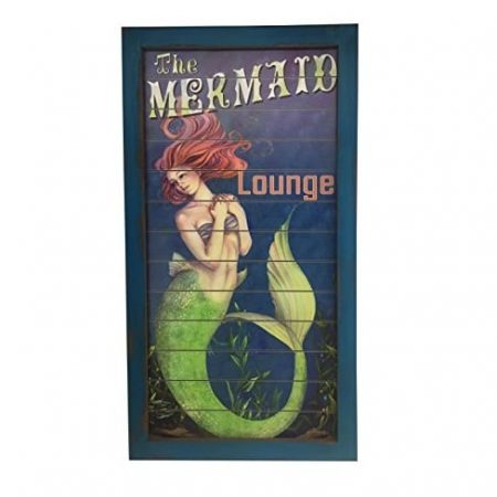 mermaid lounge wooden sign