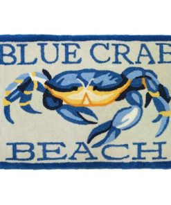 Accents-Waterfront-Blue-Crab-Beach-Novelty-Rectangular-Rug-0-247x296 Beach Rugs and Beach Area Rugs